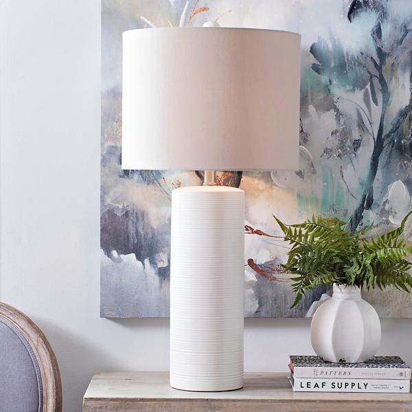 Matte Off White Wynn Table Lamp