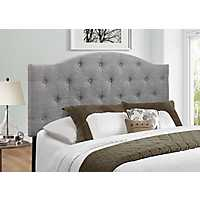 Gray Bryne Button Tufted Full/Queen Headboard