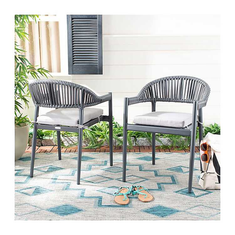 Grayton Rope Stackable Outdoor Chairs