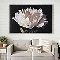 White Poppy Framed Canvas Art Print