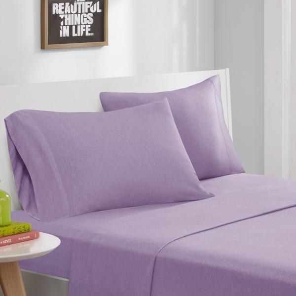 Purple Jersey Knit 3-pc. Twin Sheet Set
