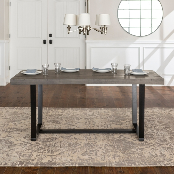 Marvelous Gray Distressed Solid Wood Dining Table Kirklands Home Remodeling Inspirations Basidirectenergyitoicom