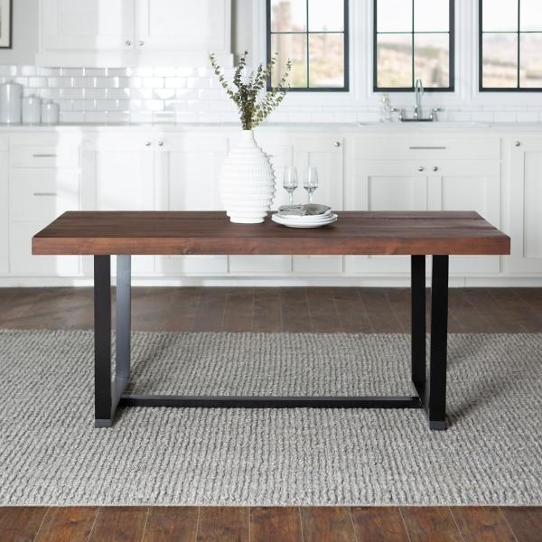 Strange Mahogany Distressed Solid Wood Dining Table Kirklands Home Remodeling Inspirations Basidirectenergyitoicom