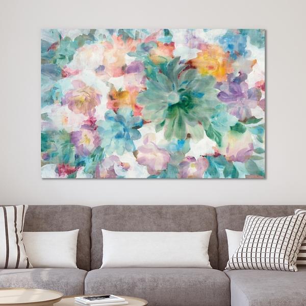 Succulent Floral Canvas Art Print