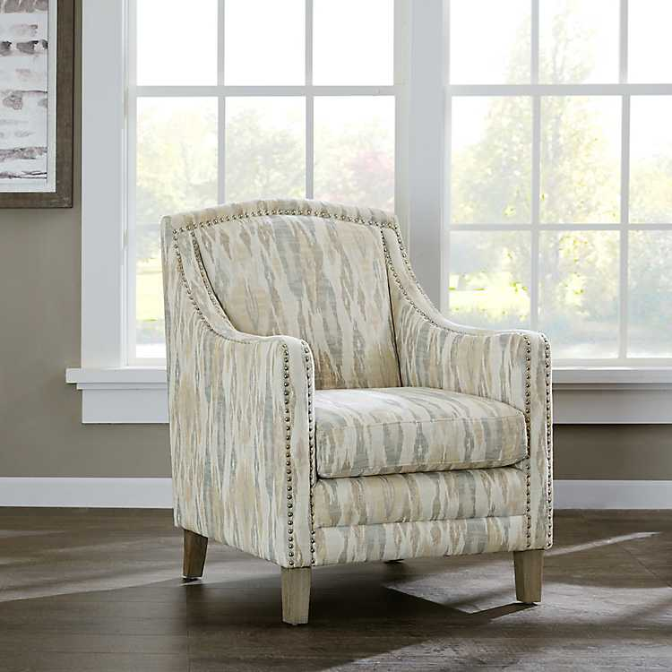 Anna Patterned Accent Chair With Nailhead Trim Kirklands