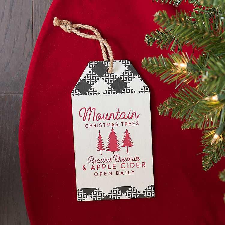 Buffalo Check Christmas Ornaments.Christmas Trees Buffalo Check Tag Ornament