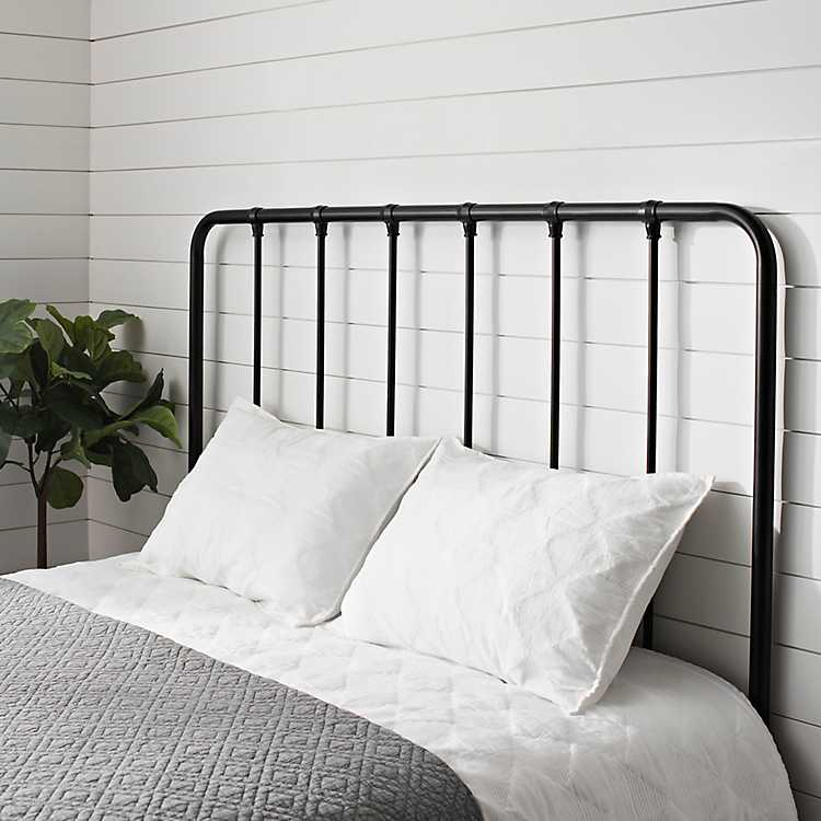 Black Metal Farmhouse Queen Headboard