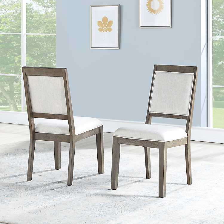 Wondrous Mille Linen Dining Chairs Set Of 2 Dailytribune Chair Design For Home Dailytribuneorg