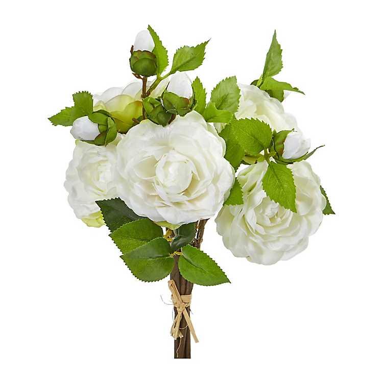 White Camellia Bouquets Set Of 4 Kirklands