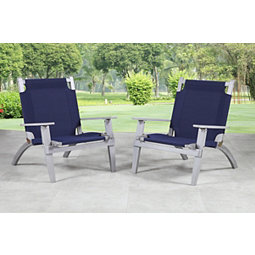 Gray Folding Westport Outdoor Chairs Set Of 2