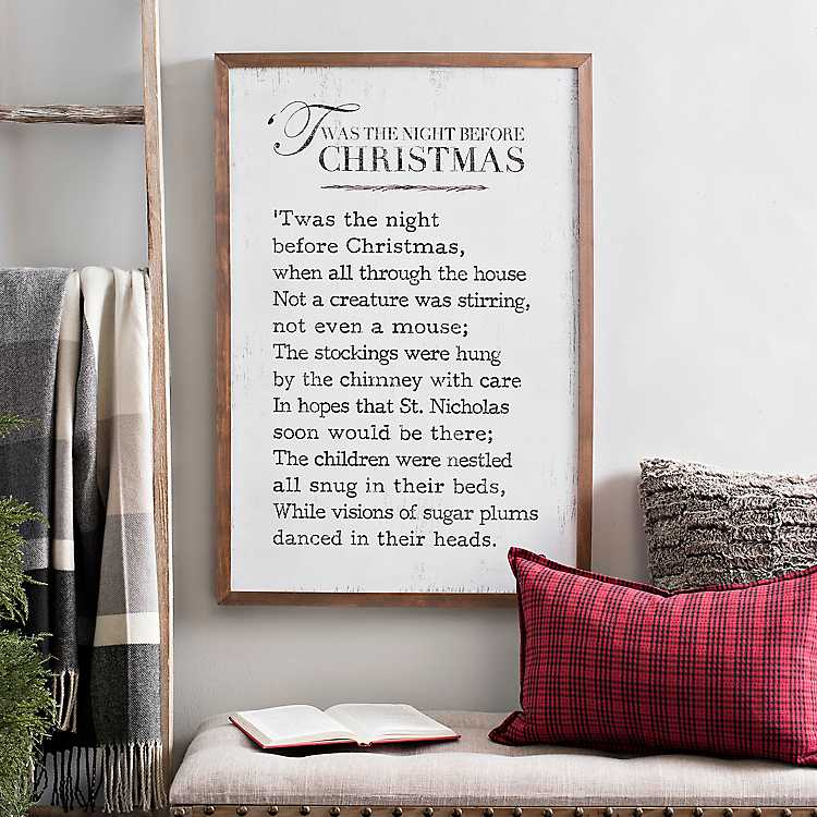 Twas The Night Before Christmas Plaque Kirklands