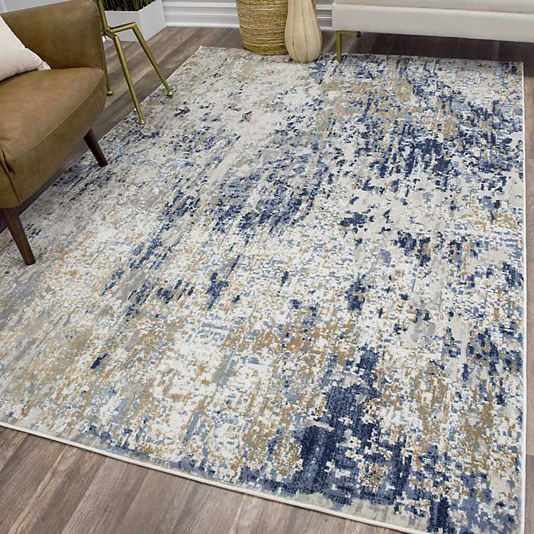 Gold Foil High Low Auden Area Rug 8x10