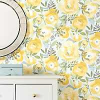 Yellow Peachy Keen Peel and Stick Wallpaper