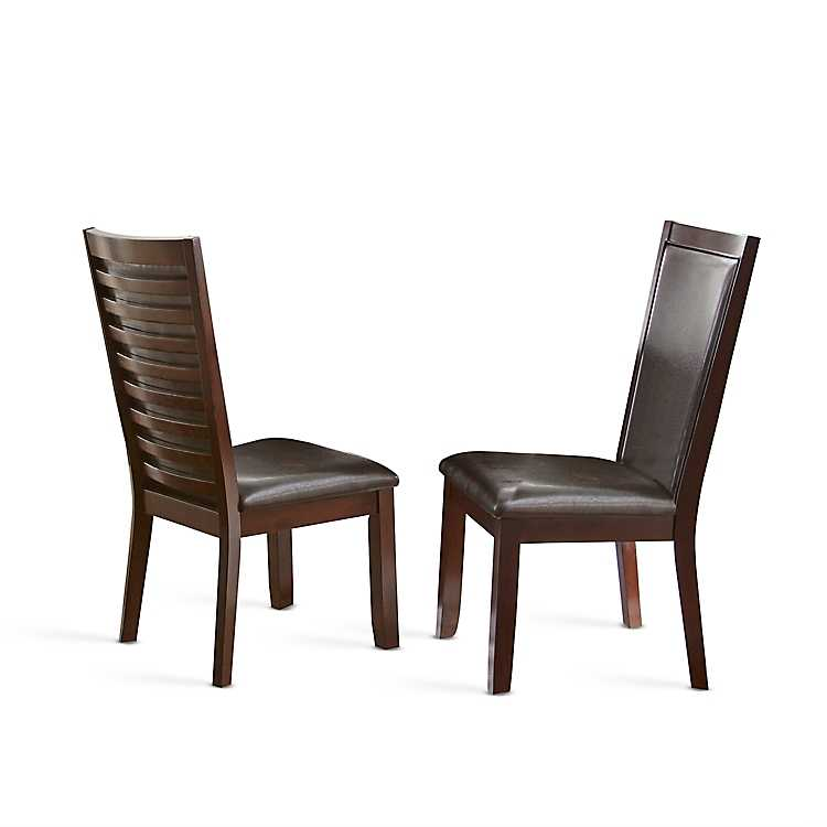 Fantastic Dark Brown Cherry Finish Dining Chairs Set Of 2 Onthecornerstone Fun Painted Chair Ideas Images Onthecornerstoneorg