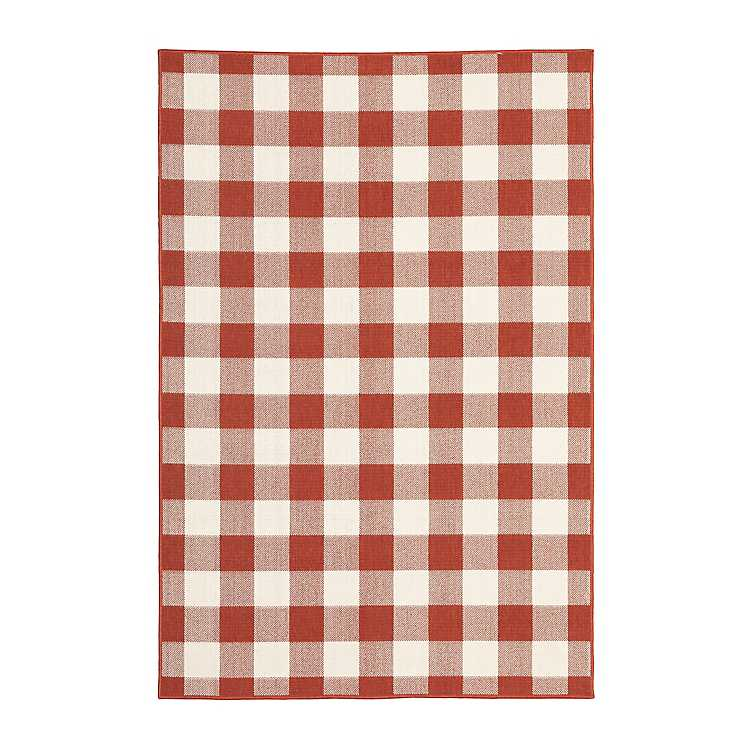 Red Buffalo Check Outdoor Area Rug