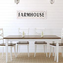 White Vintage Farmhouse Plaque