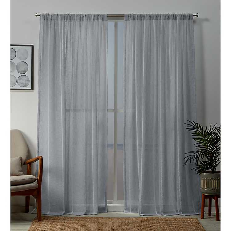 melrose blue santos curtain panel set 84 in kirklands kirklands