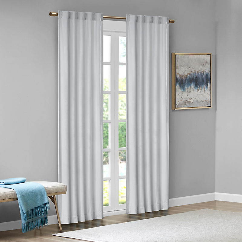Gray Velvet Greta Curtain Panel Set, 84 in.