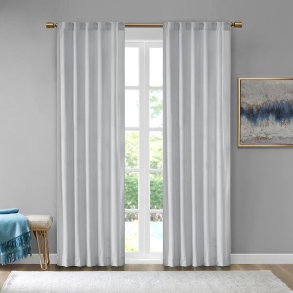 Gray Velvet Greta Curtain Panel Set