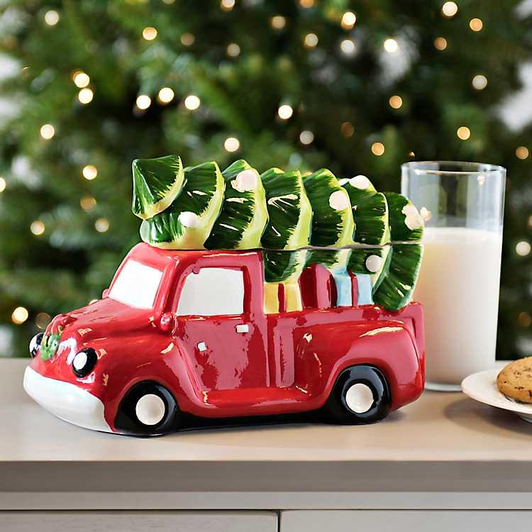 Christmas Truck Cookie Jar Kirklands