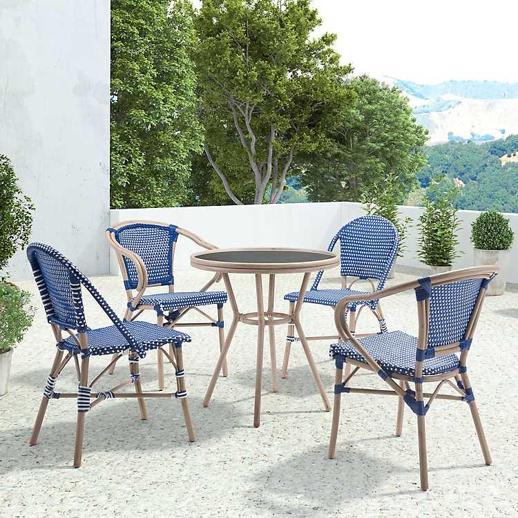 Fantastic Blue And White Herringbone Dining Chairs Set Of 2 Short Links Chair Design For Home Short Linksinfo