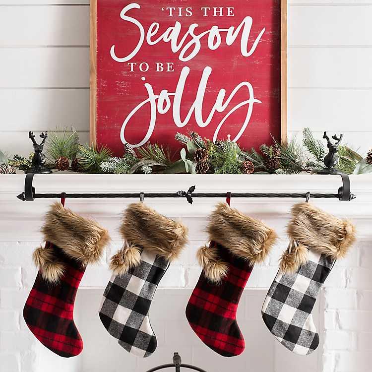 Park Designs Holiday Collection Tis The Season Stocking Ticking