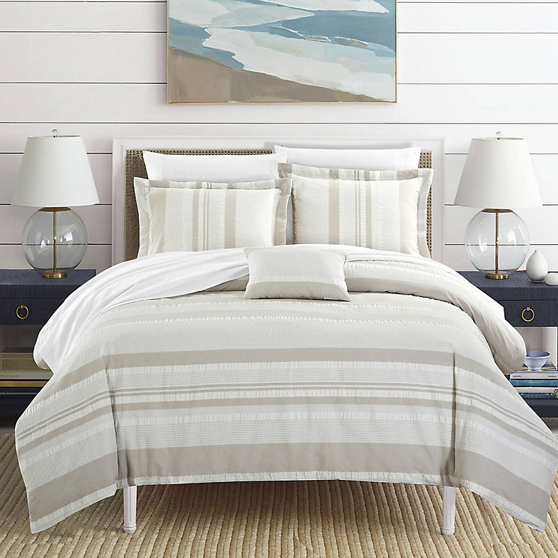 Beige Devon 4-pc. Queen Duvet Set