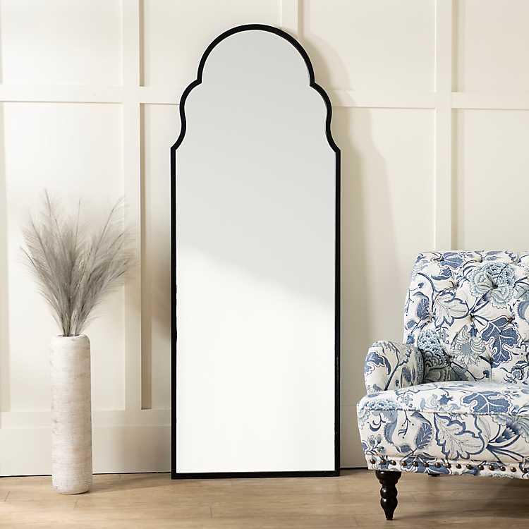 Maria Metal Black Arch Full Length Mirror Kirklands