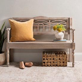 Peachy Ottomans Benches Storage Benches Kirklands Machost Co Dining Chair Design Ideas Machostcouk
