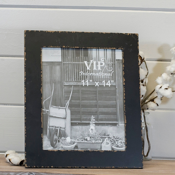 Simple Distressed Black Picture Frame, 11x14