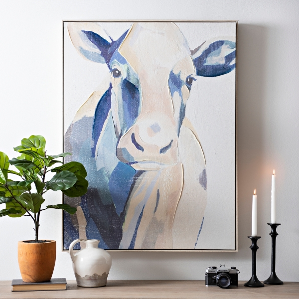 Romantic Cow Painting