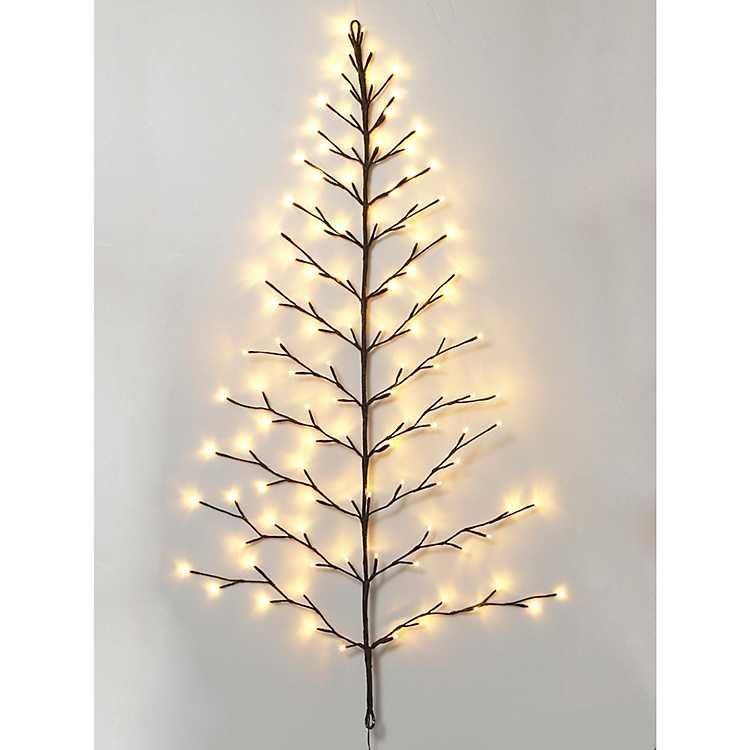 4 Ft Christmas Tree.4 Ft Pre Lit Twig Wall Hanging Christmas Tree