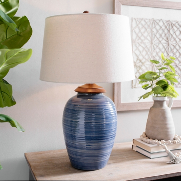 Encore Seeded Smoked Glass Table Lamp
