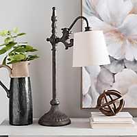 Black Metal Bronze Base Table Lamp