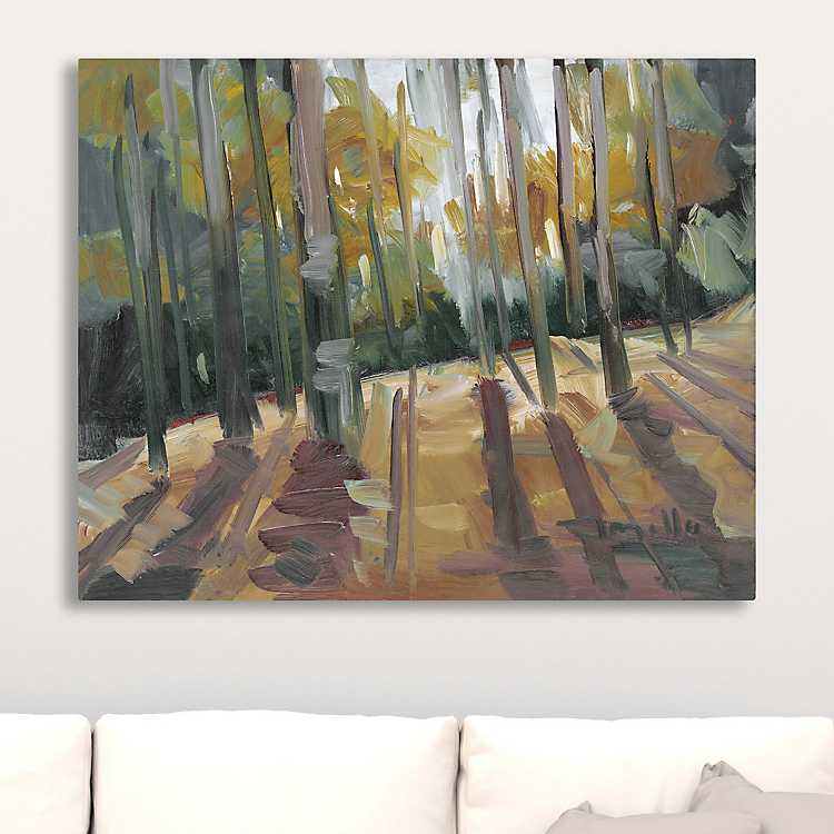 Product Details Backlit Woods Giclee Canvas Art Print
