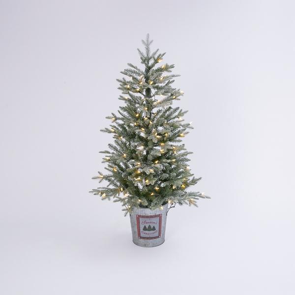 Pre Lit Christmas Tree Clearance.4 Ft Pre Lit Christmas Tree In Bucket Kirklands