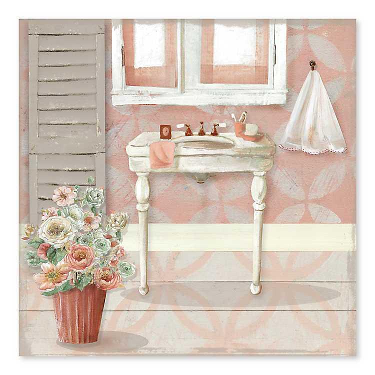Shabby Chic Bathroom Canvas Art Print