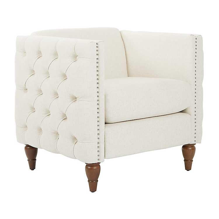 Prime Linen Tufted Eden Accent Chair Short Links Chair Design For Home Short Linksinfo