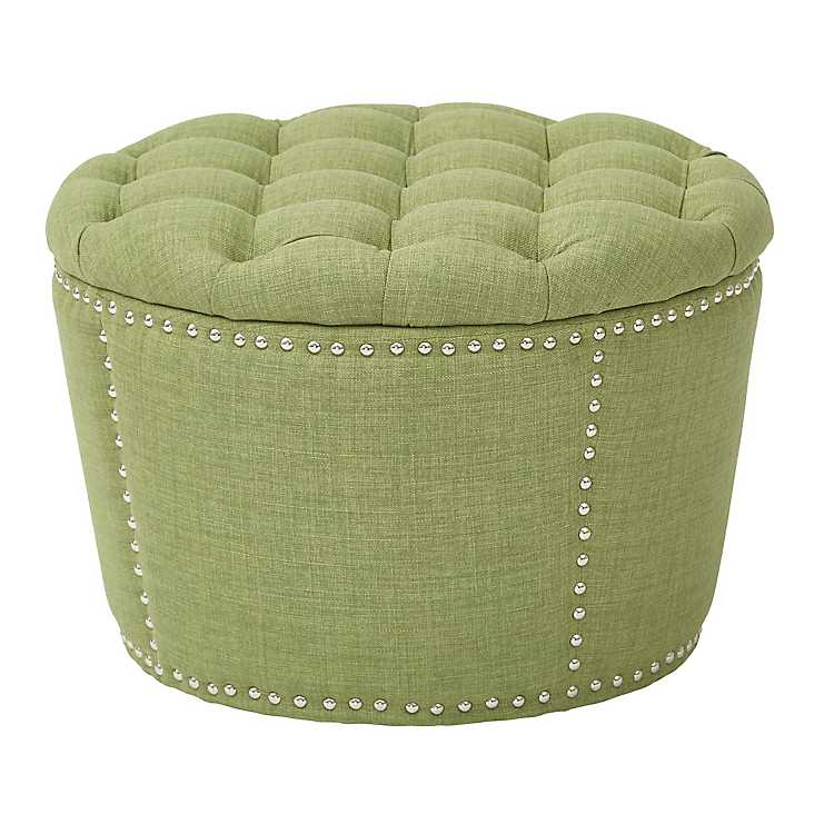Super Green Landry Tufted Storage Ottoman Set Of 2 Ocoug Best Dining Table And Chair Ideas Images Ocougorg