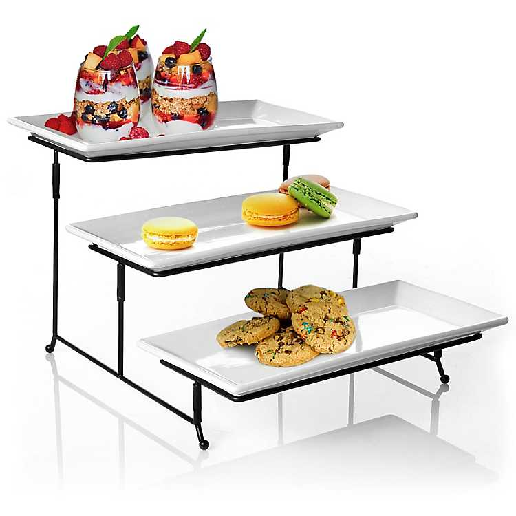 3 Tier White Serving Plates by Kirkland's