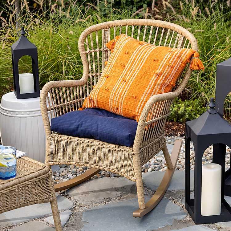 Natural Wicker Outdoor Rocker Chair
