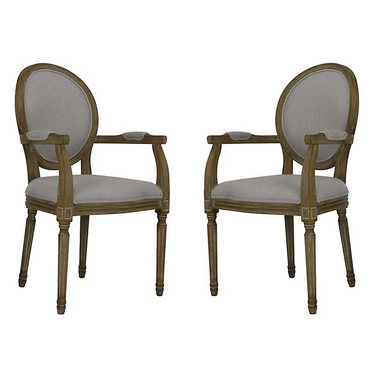 Stupendous Gray Louis Accent Chairs Set Of 2 Pdpeps Interior Chair Design Pdpepsorg