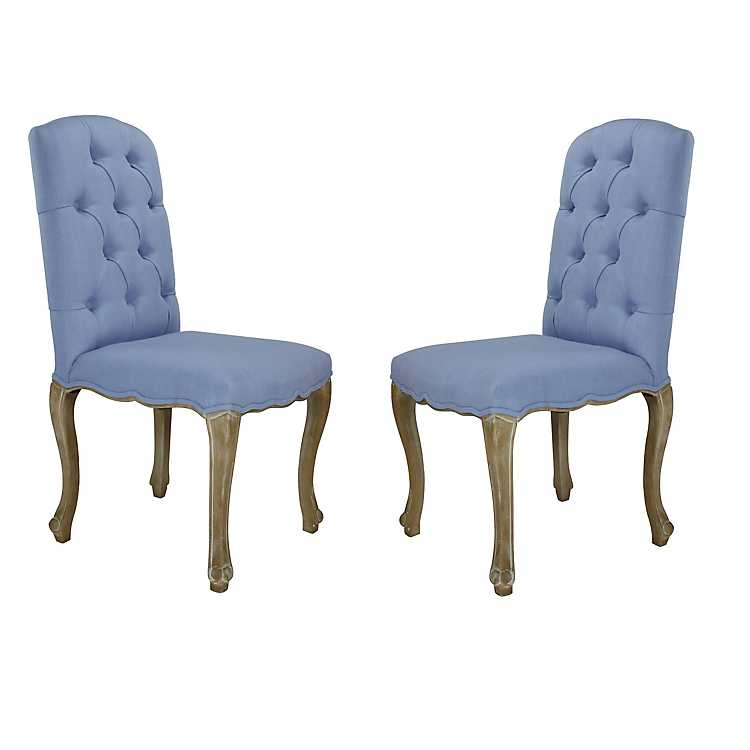 Awesome Blue Alyssa Tufted Dining Chairs Set Of 2 Bralicious Painted Fabric Chair Ideas Braliciousco