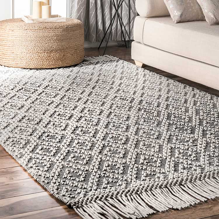 Darla Hand Woven Area Rug With Tels