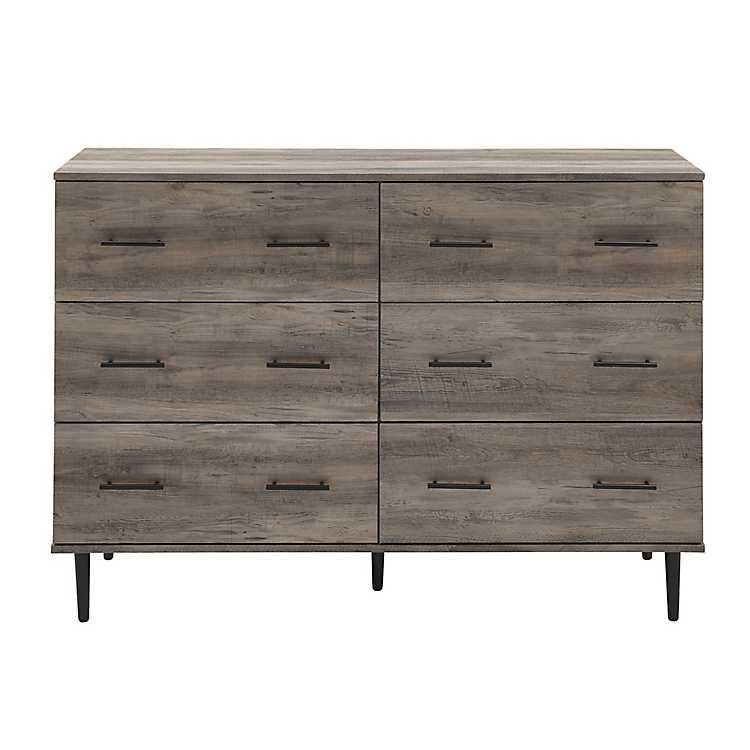 Gray Wash Wood Brielle Dresser