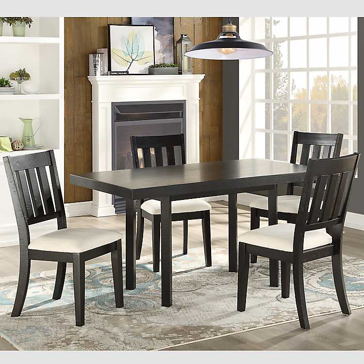Black Zion Distressed Dining Table