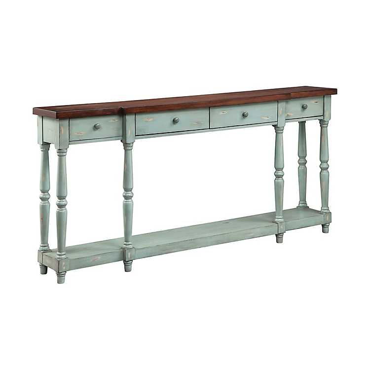 Blue Simon Narrow Console Table Kirklands