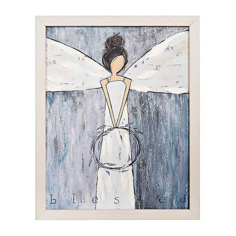 Blessed Blue Angel Framed Art Print