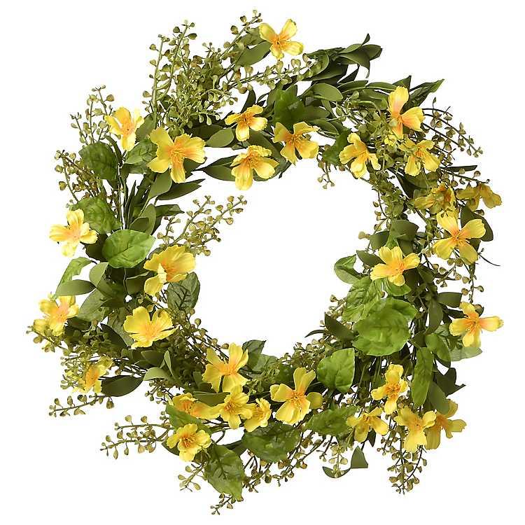 Yellow Cosmos Summer Wreath Kirklands
