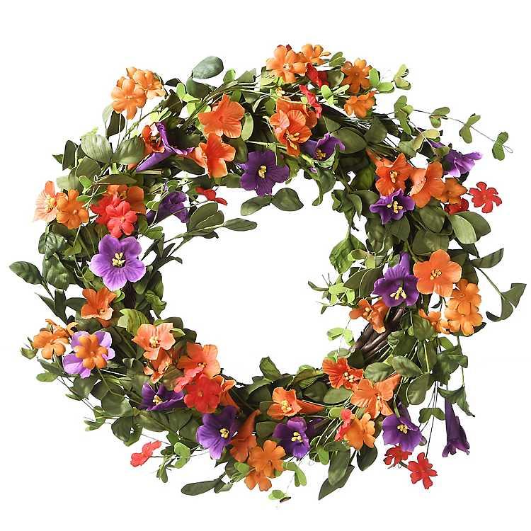 Morning Glory Bright Summer Wreath Kirklands